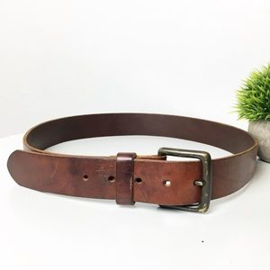J. Crew Accessories - J crew Genuine Leather Belt cognac color